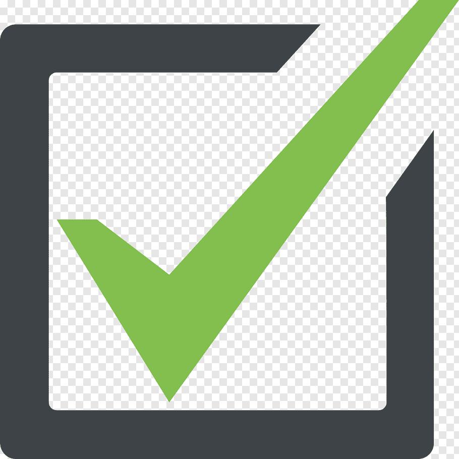 Green check logo, Checkbox Emoji Check mark Symbol, check.