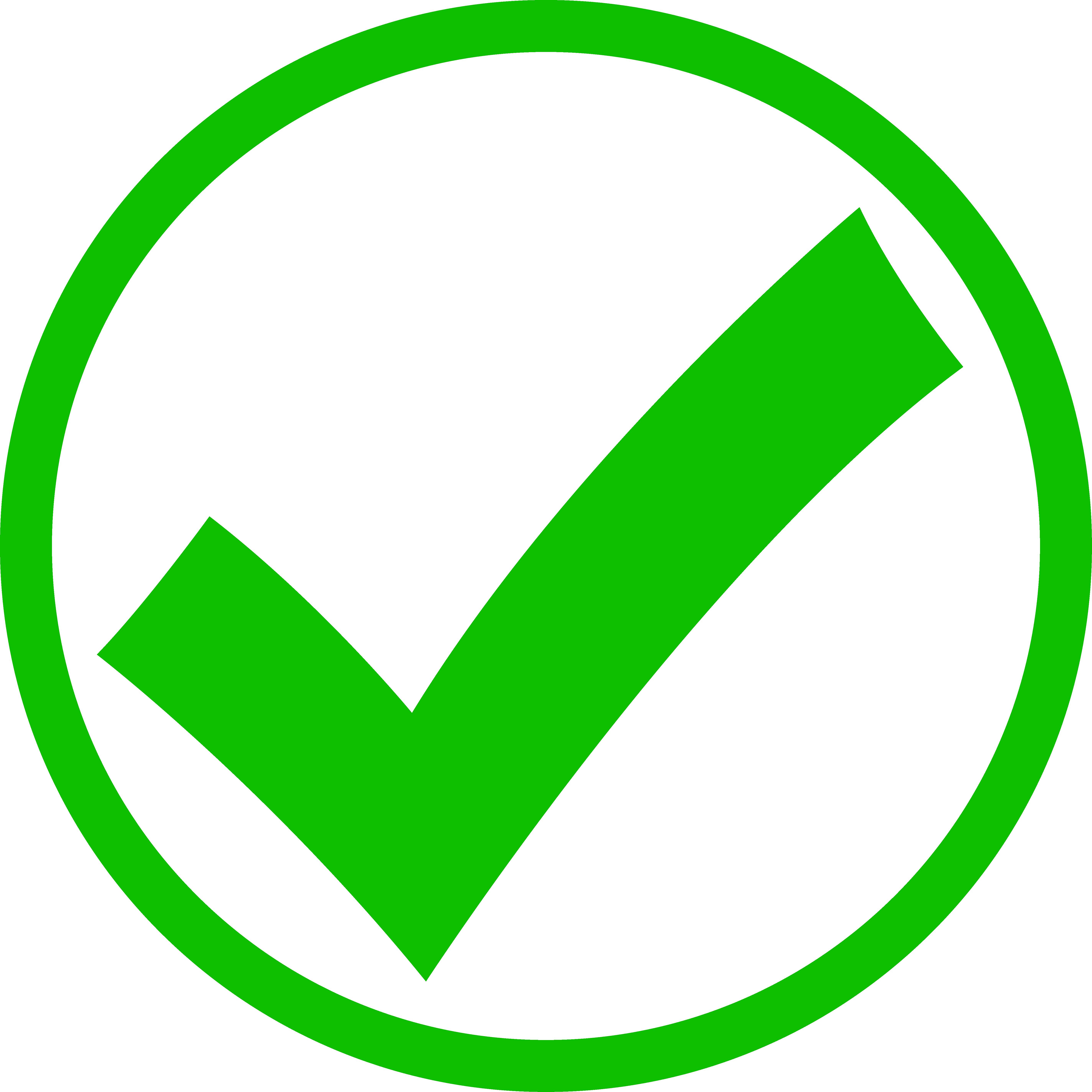 Green Check Mark in Circle.