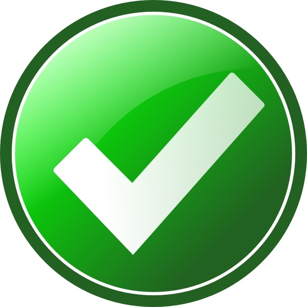 Green Checkmark clip art Free vector in Open office drawing svg.