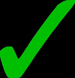 Transparent Green Checkmark Clip Art at Clker.com.