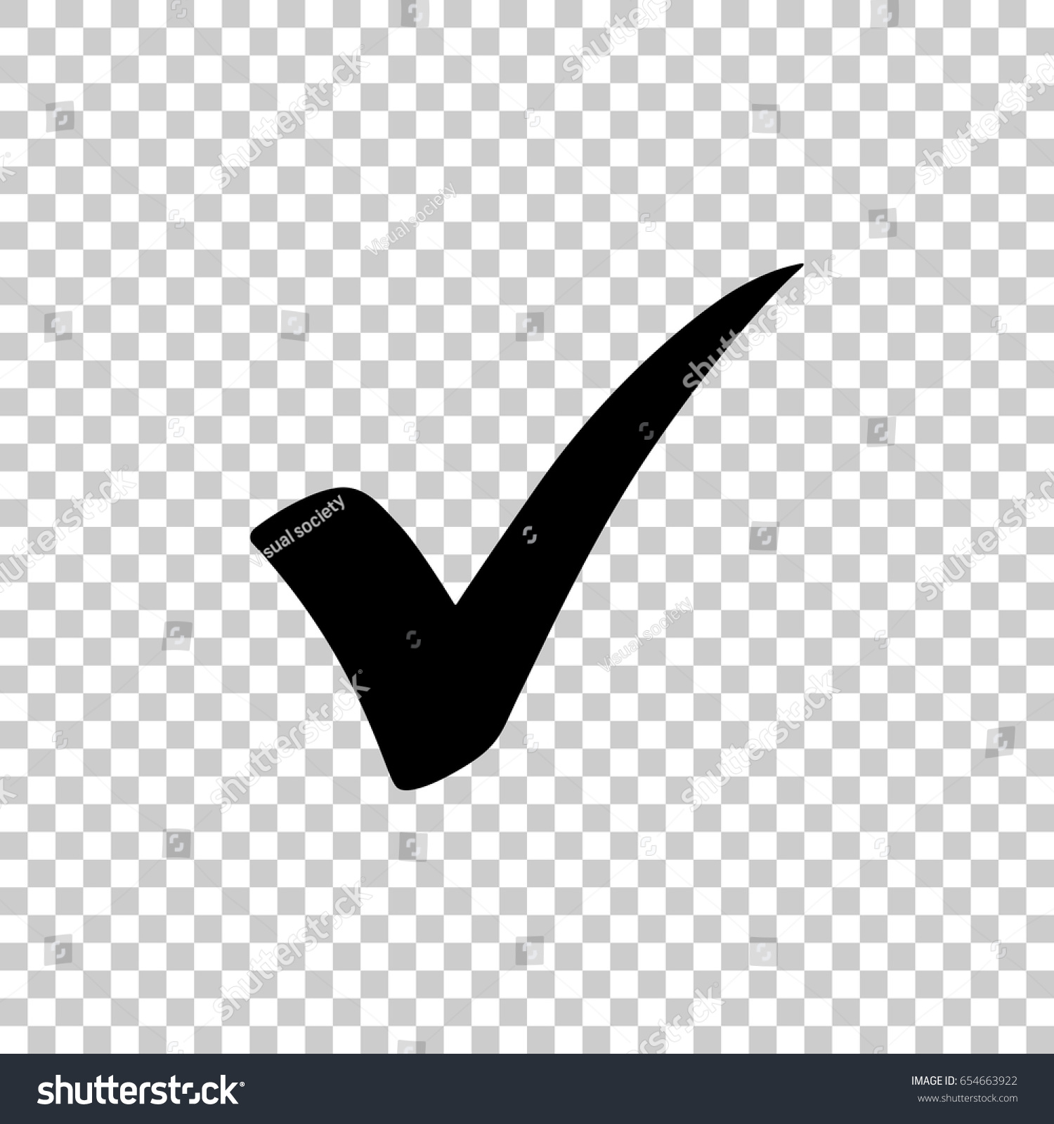 Check Mark Isolated On Transparent Background Stock Vector (Royalty.
