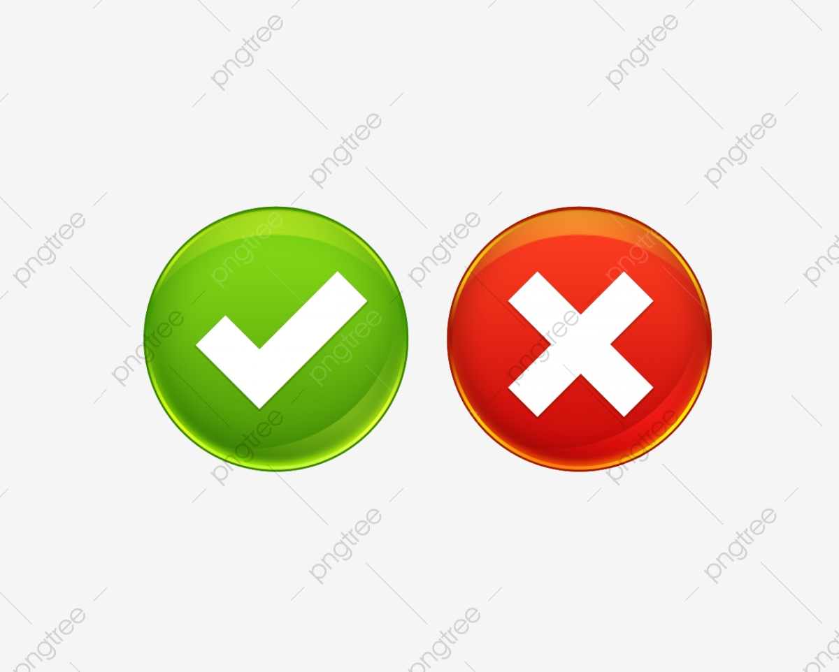 Right And Wrong, Checkmark, Wrong, Symbol PNG Transparent Clipart.
