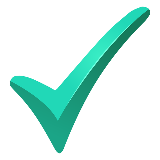 Download Free png Turquoise tick check mark png.