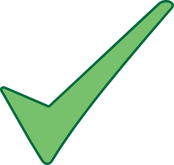 Check Mark Symbol clip art Free vector in Open office.