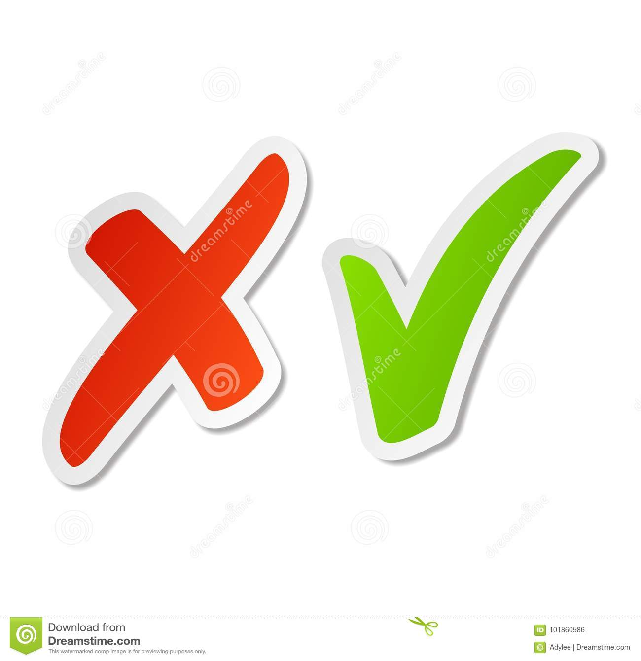 Check marks stickers stock photo. Illustration of label.