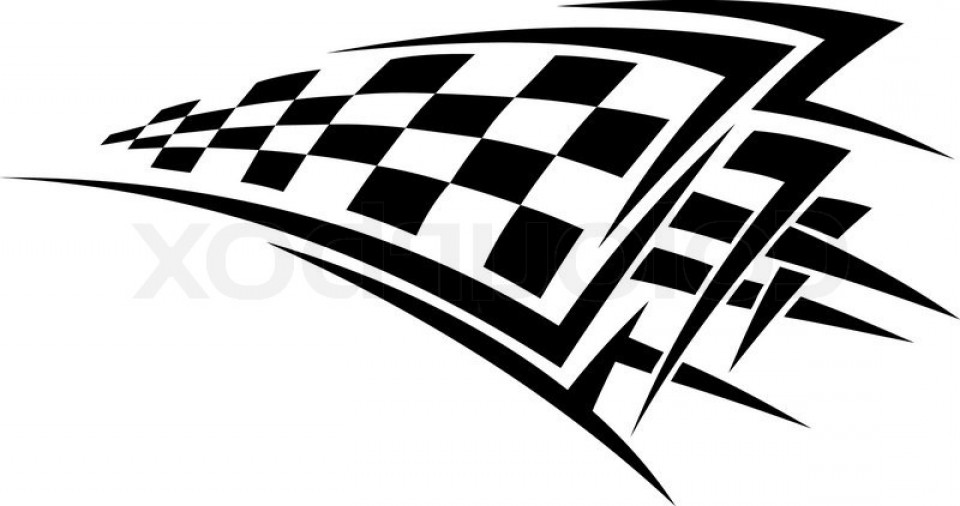 Racing Checkered Flag >> checkard flag tribal clipart - Clipground