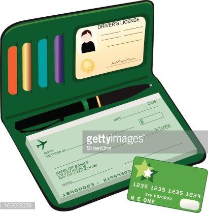 Male Checkbook Clipart Image.