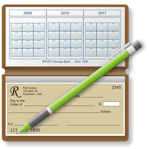 Checkbook Register Template. Electric Ch #166312.