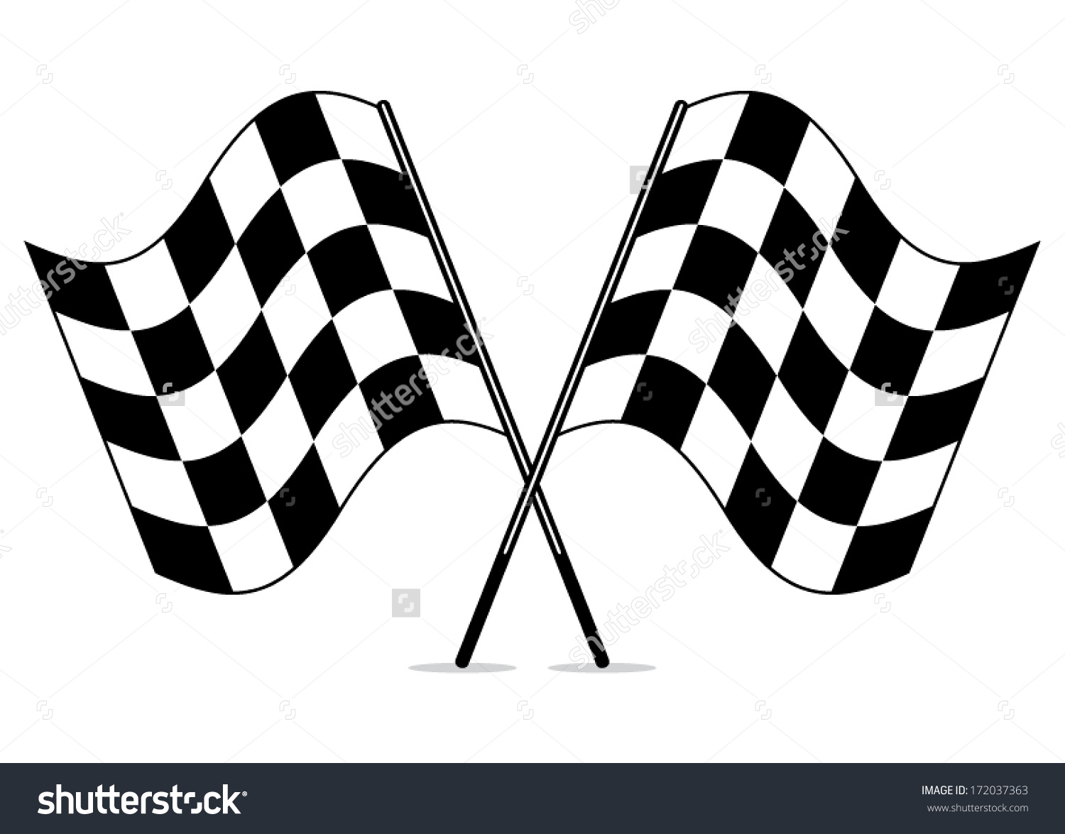 Checked flag clipart.