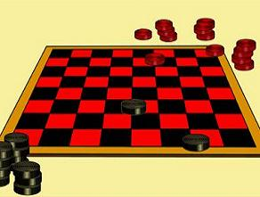 Checkers game clipart.