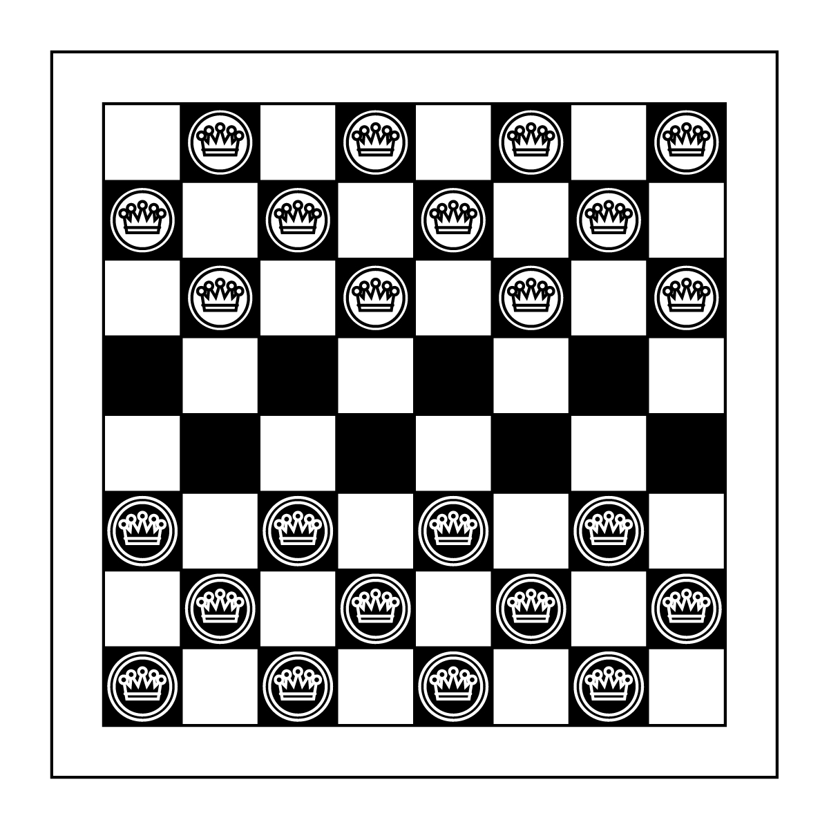 Checkers clipart