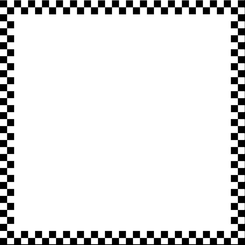 Checkered Flag Border Clip Art.