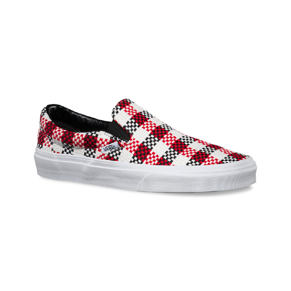 Details about New VANS Womens Classic Slip On Checker Plaid VN.