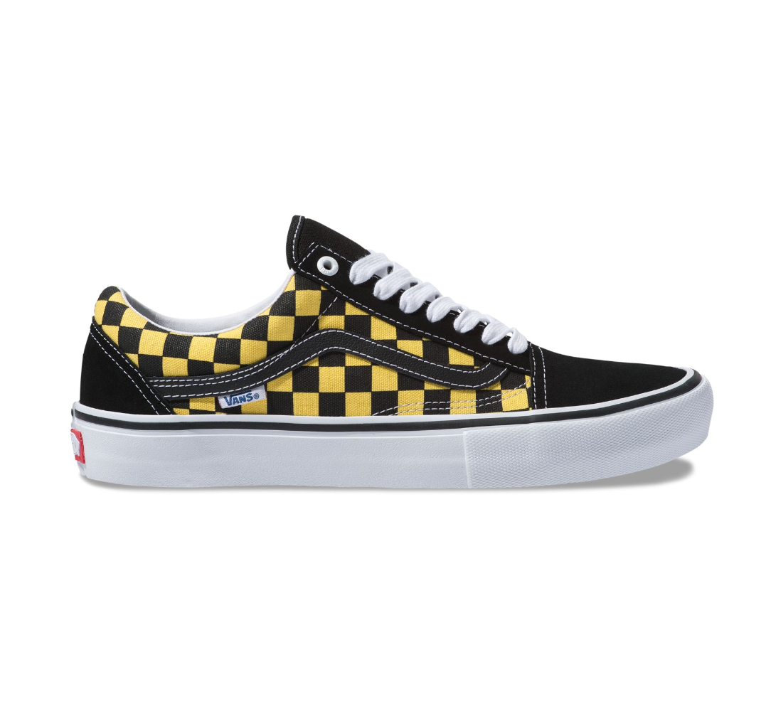 VANS Old Skool Pro (Checker) Black/Aspen Gold.