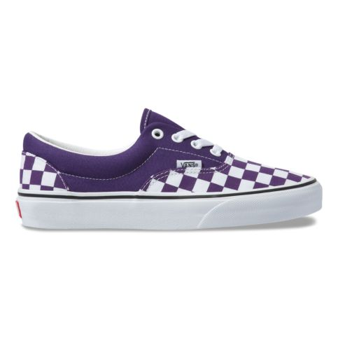 Vans Era Violet/White Checker.