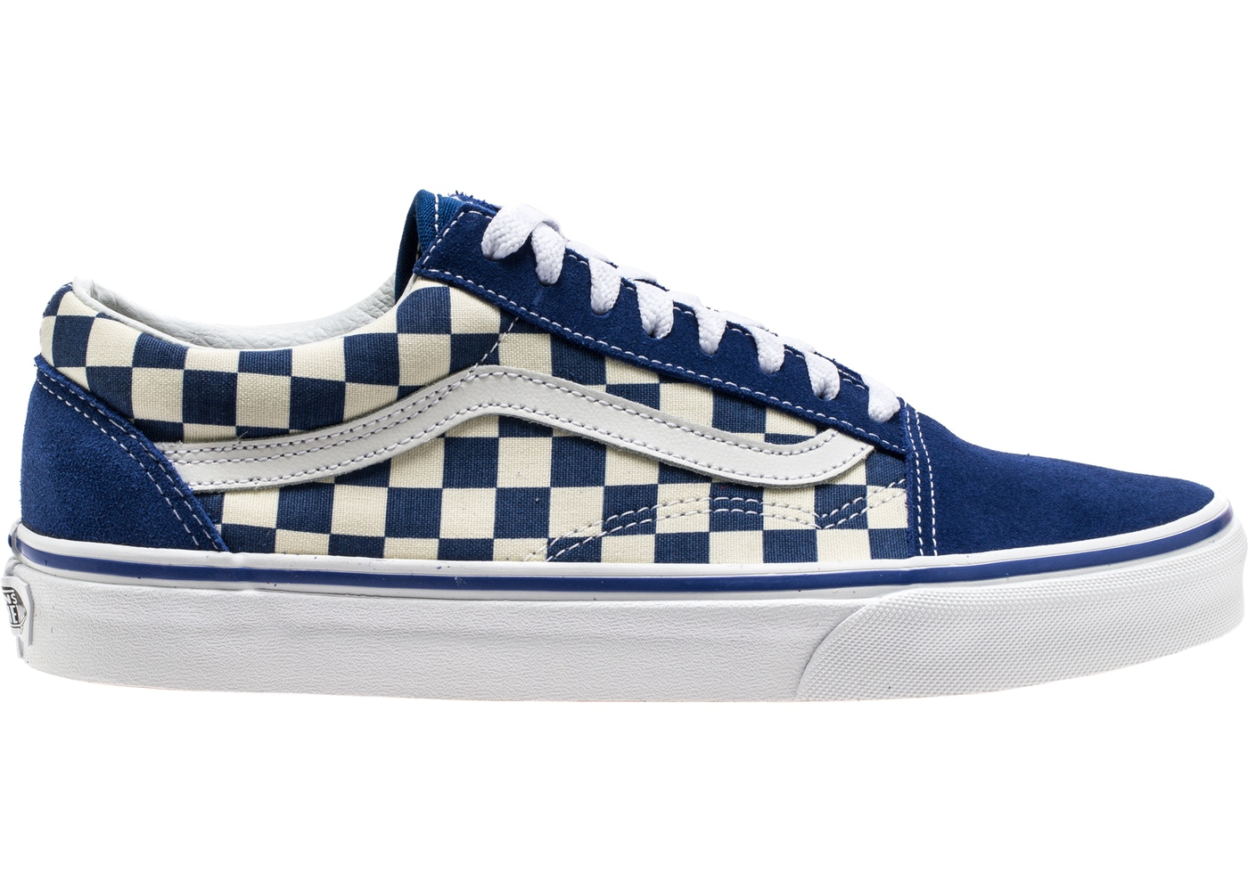 Vans Old Skool Blue Checkerboard.