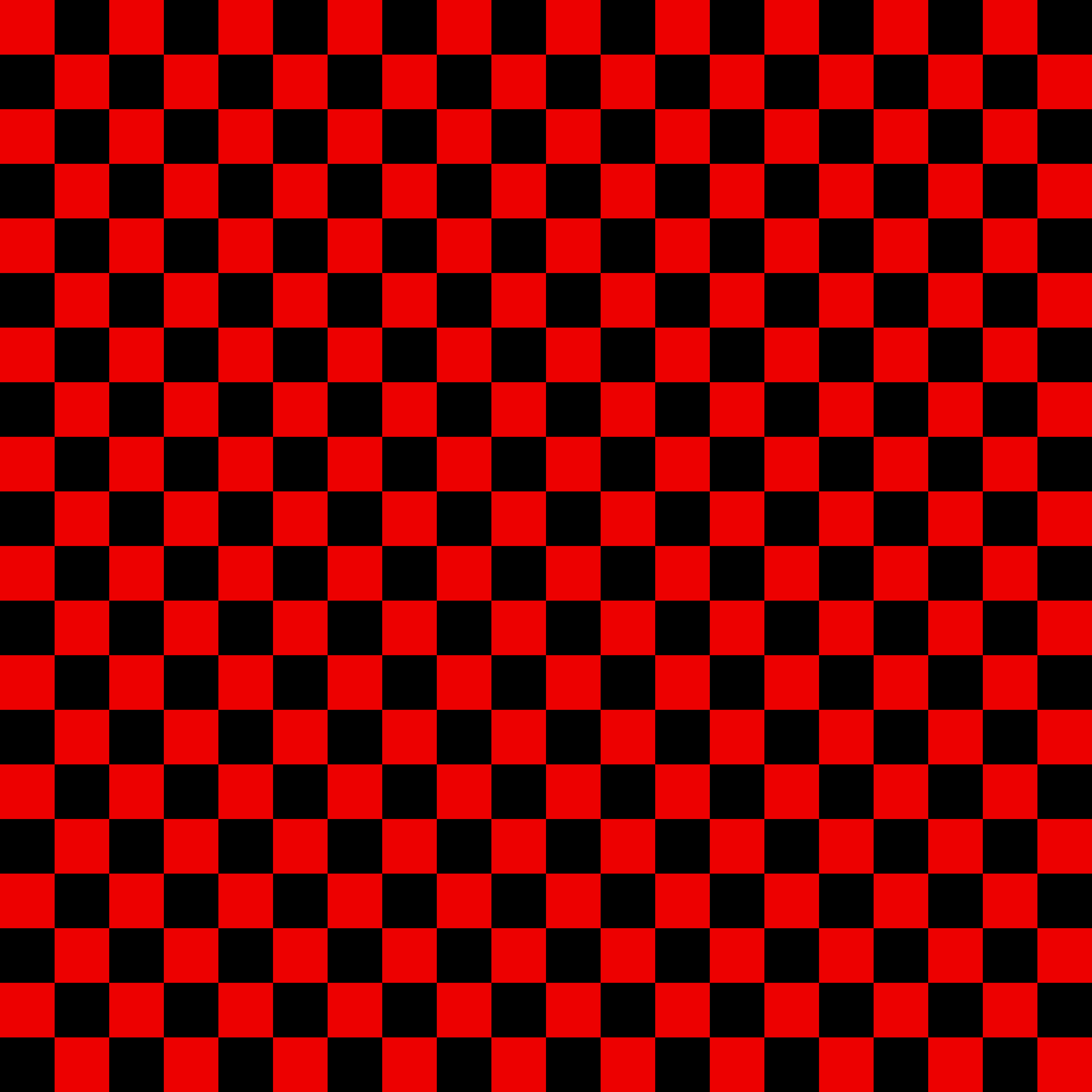 Black and Red Checkerboard Pattern.