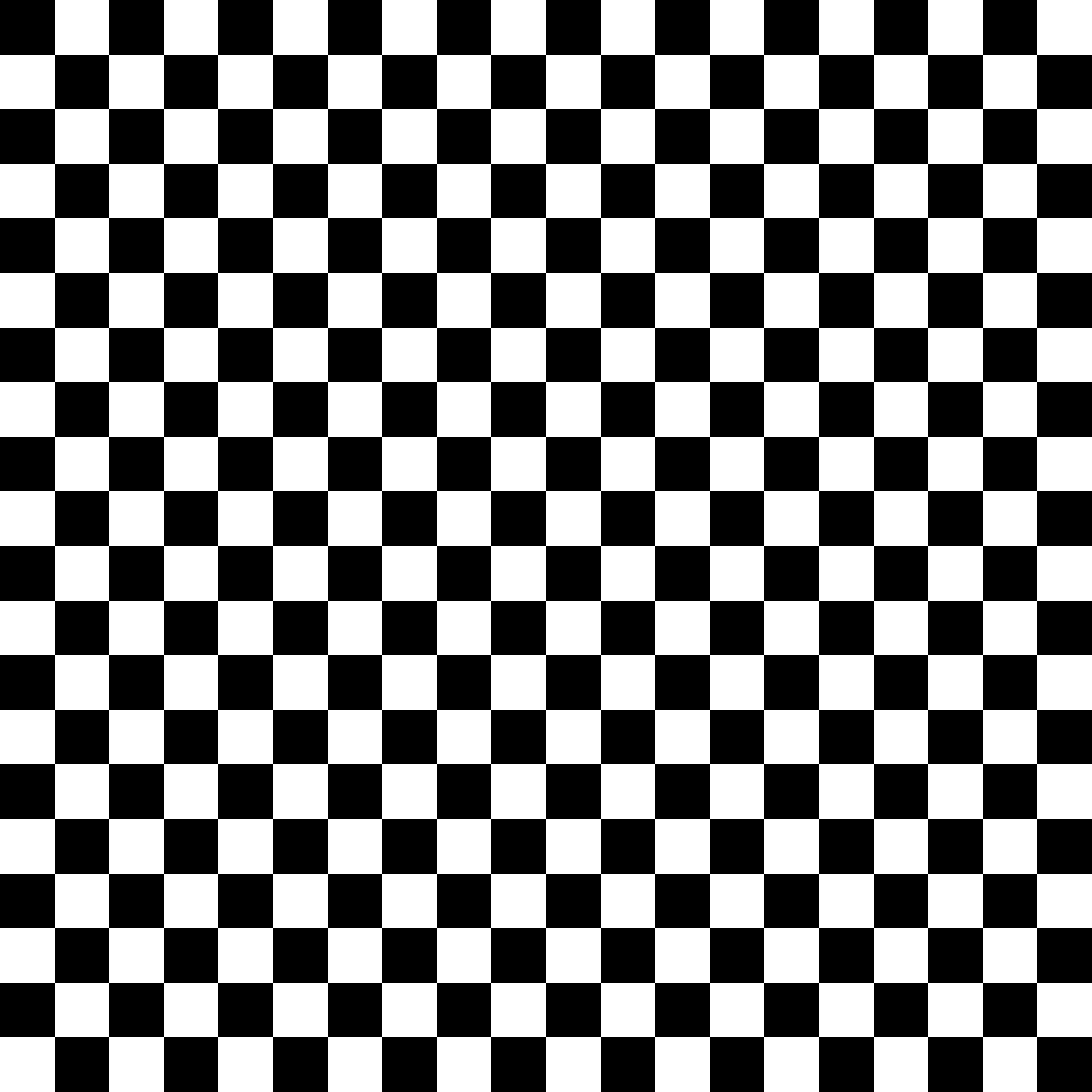 Black and White Checkerboard Pattern.