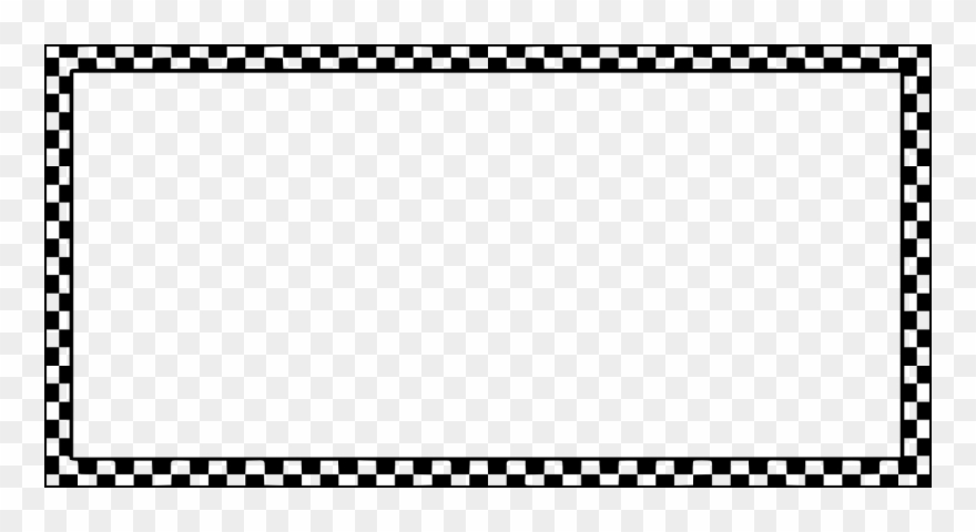 Border Frame Checkers Chequered Png Image.