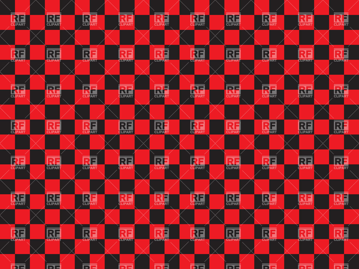 Black and red checkered background Vector Image #35016.