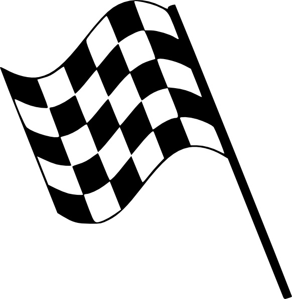 Checkered Flag clip art Free vector in Open office drawing svg.