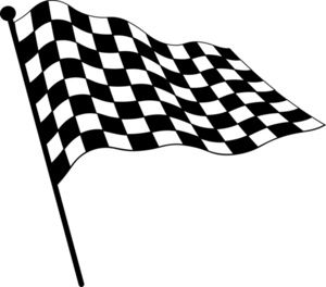 Checkered Flag Clipart Image: Clip Art Illustration Of A.
