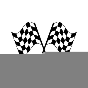 Checkered Flags Clipart.
