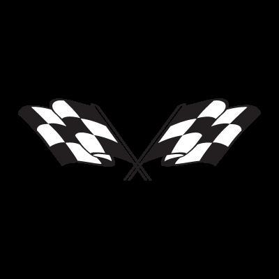 Checkered flag logo vector free.
