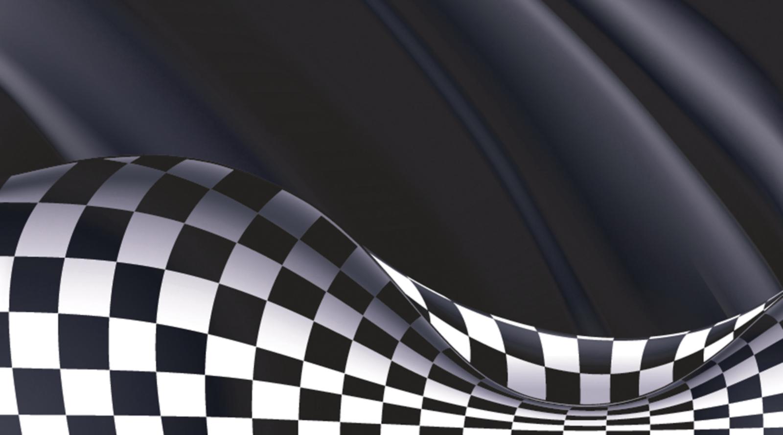 Checkered.