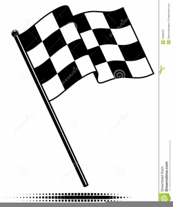 Checkered Racing Flag Clipart.