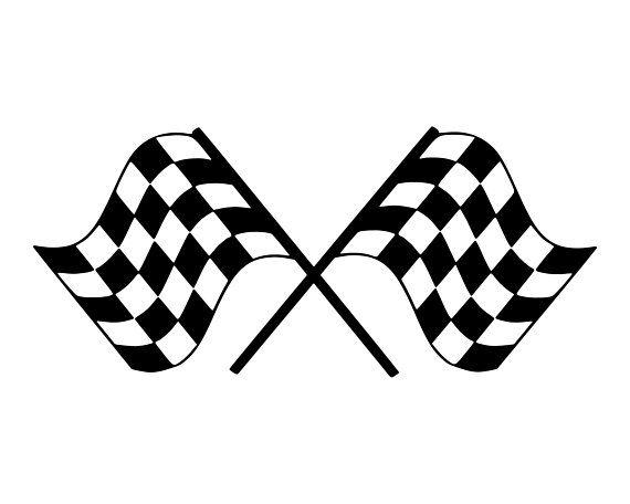Racing Flag SVG, Race Car Flag SVG, Checkered Flag SVG.