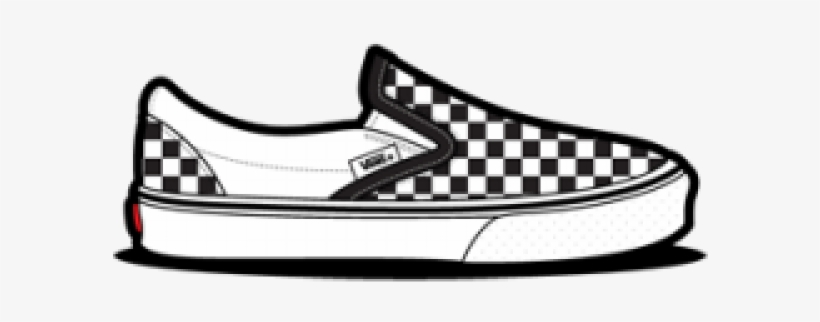 Drawn Vans Checkered.