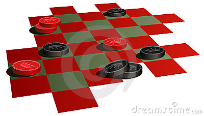 Checkers Stock Illustrations.