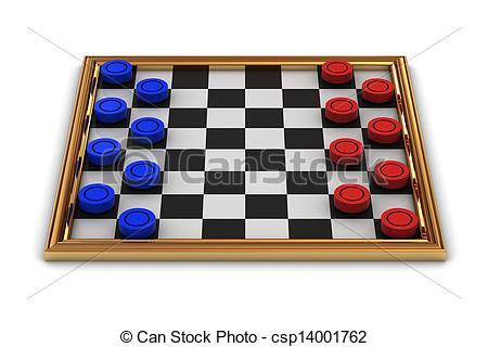 Clip Art of Checkers board game.