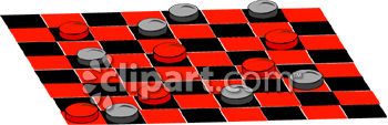Royalty Free Clipart Image: A Game Of Checkers.