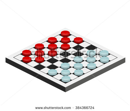 Checkers Game Stock Images, Royalty.