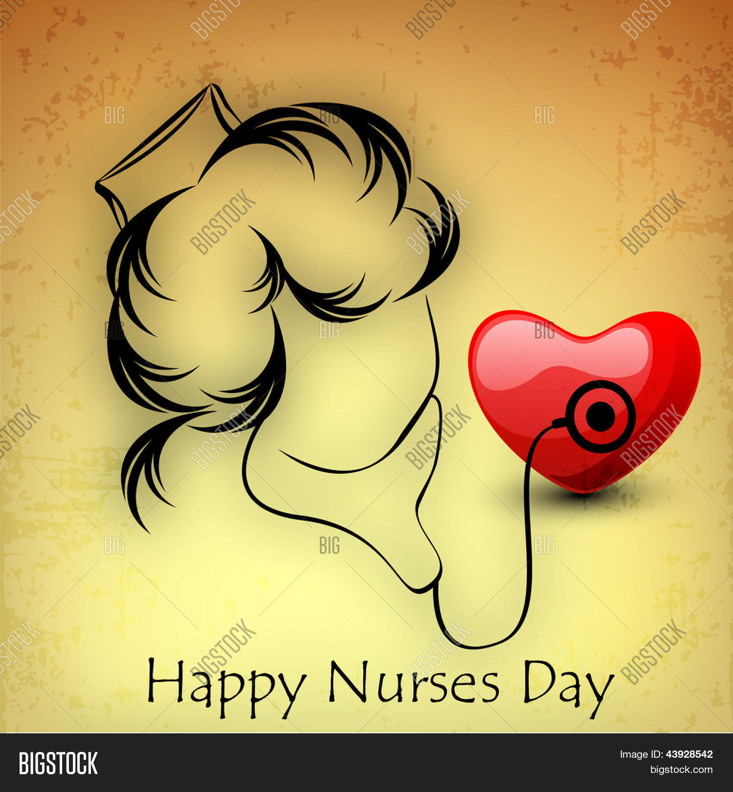 International nurse day concept with illustration of a nurse.