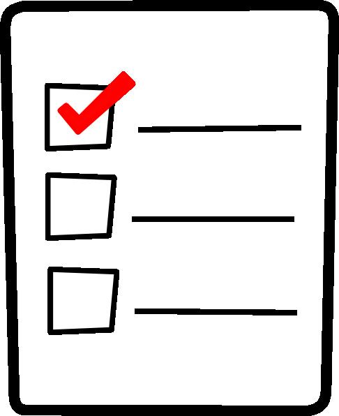 Checklist Clipart Free.