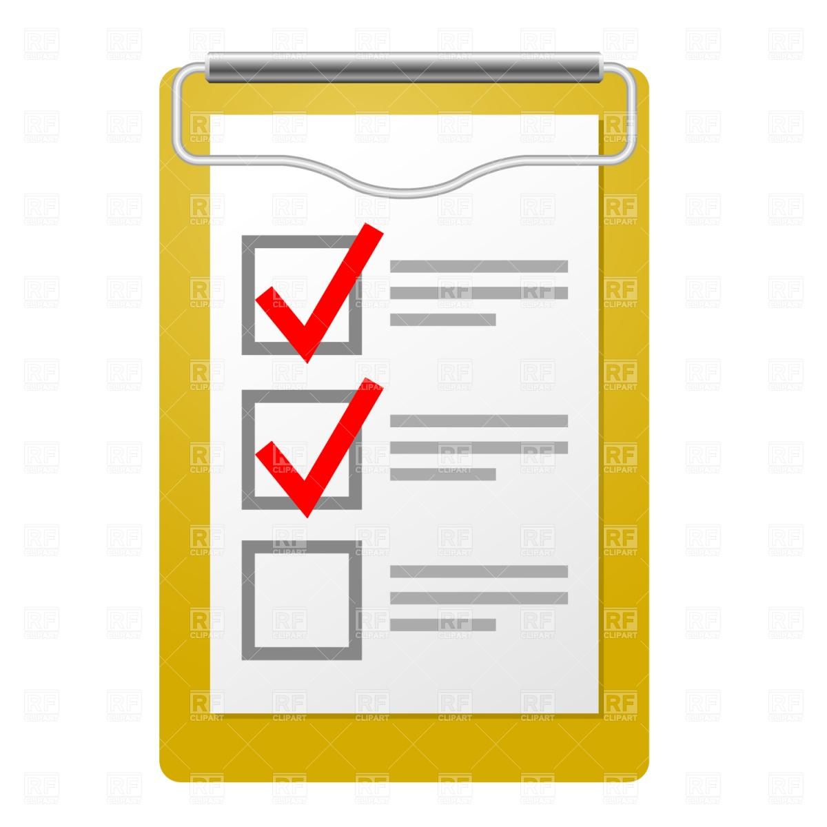 Checklist Clip Art Page 1.