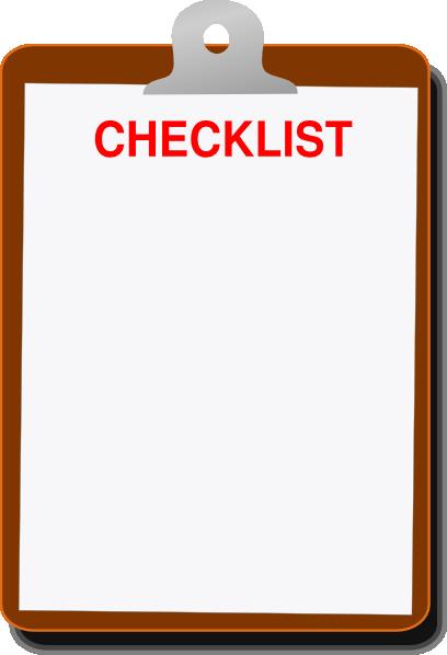Clipboard Checklist Clipart.