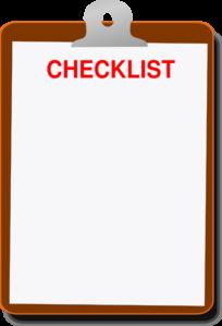 Writing checklist clipart.