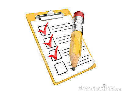 Student checklist clipart.