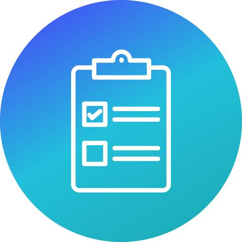 Vector Checklist Icon.