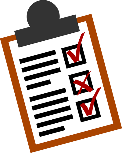 Checklist vector icon.