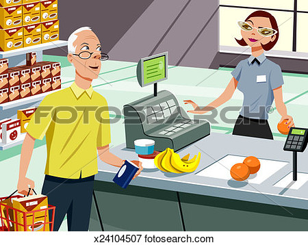 Checkout Counter Clipart.