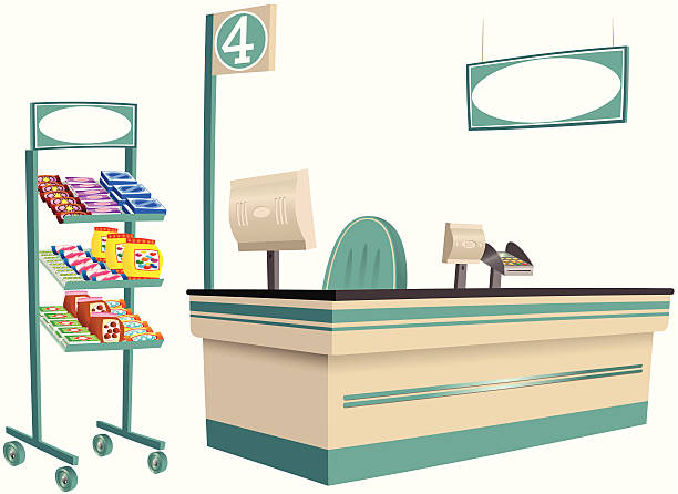 Store Counter Clipart.