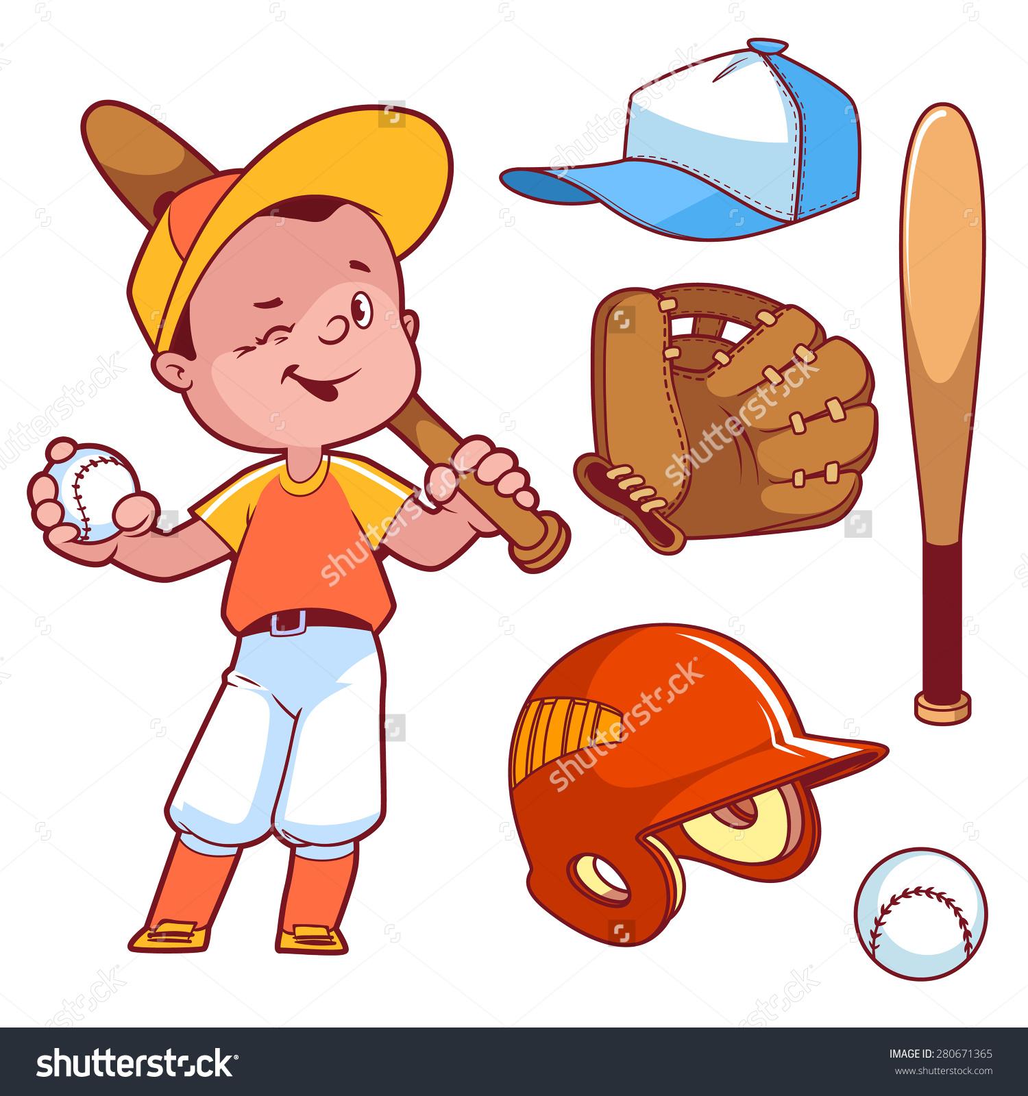 Baseball Equipment Clipart.