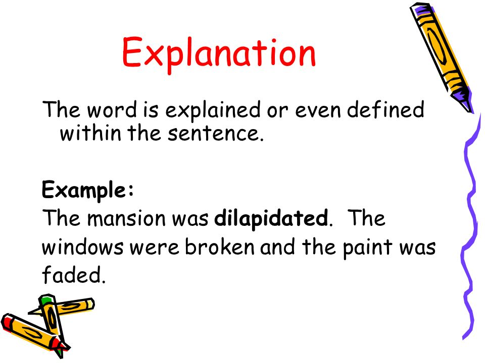 Dilapidation In A Sentence.