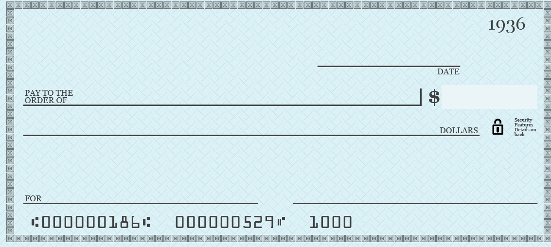 Clipart blank check.