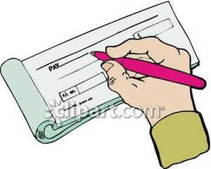 Pictures of checks clipart.